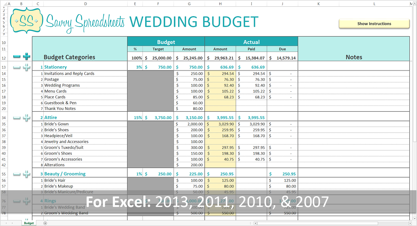 001 Plan Templates 20Best Excel Spreadsheet For Budget Family Intended For Wedding Budget Worksheet Template