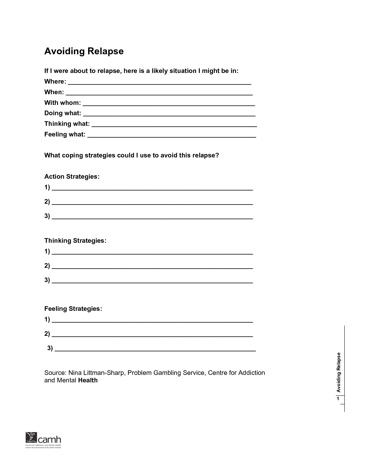 001 Substance Abuse Relapse Prevention Plan Template Amazing For Relapse Prevention Worksheets Pdf