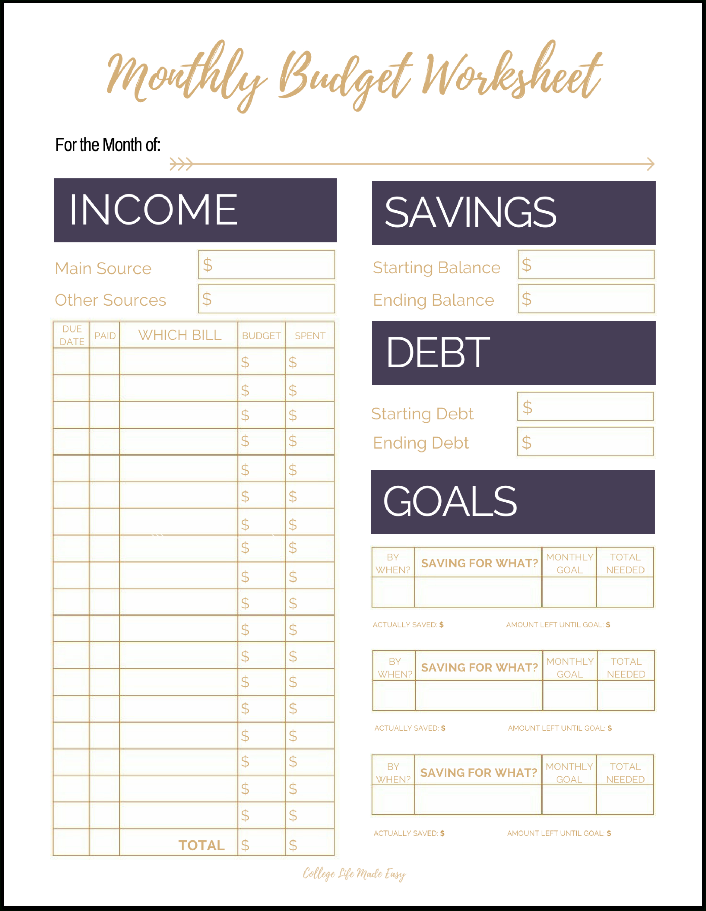 010 Printable Budget Worksheet Template Plan Templates Unforgettable Intended For Budgets For Dummies Worksheets