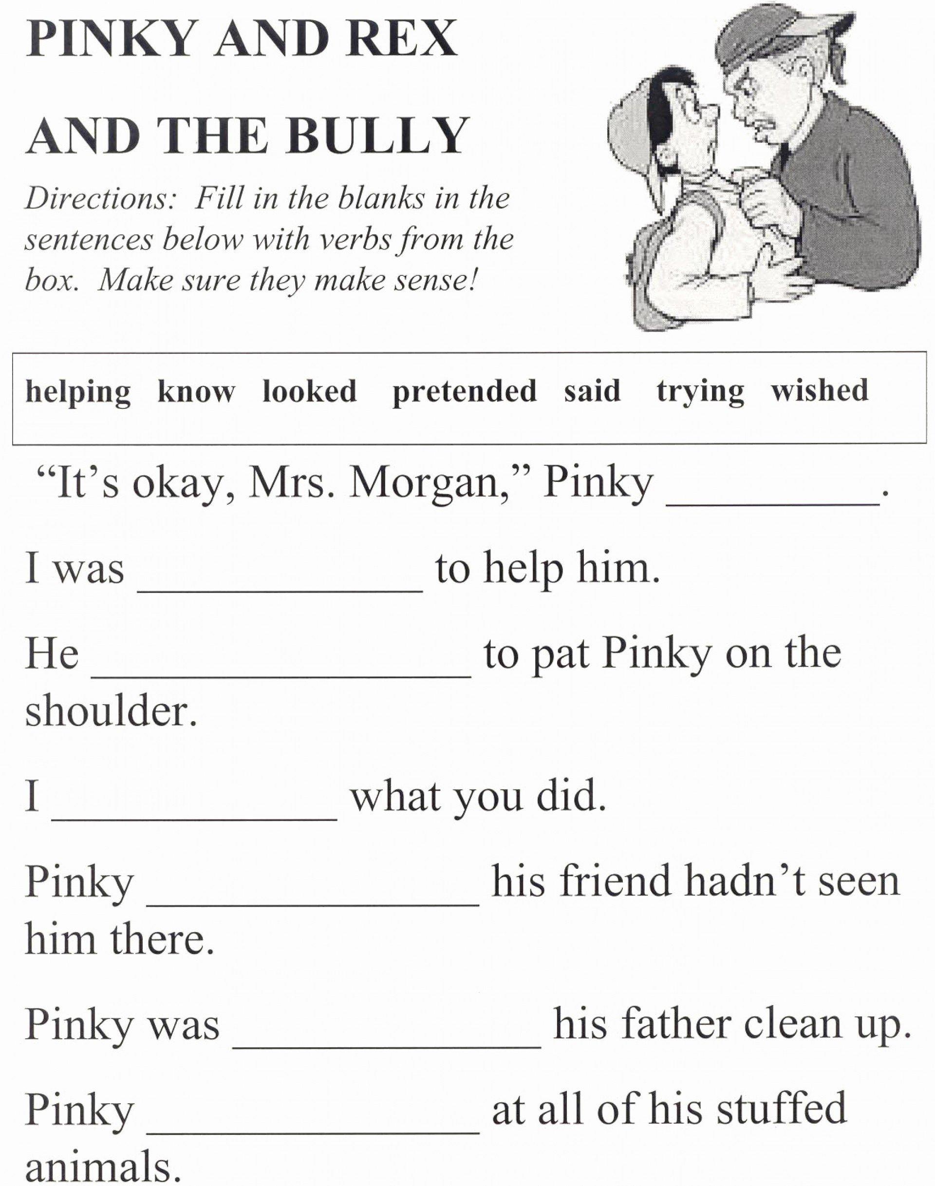 013 Printable Anti Bullying Word Unbelievable Search  Istherewhitesmoke Inside Free Printable Bullying Worksheets