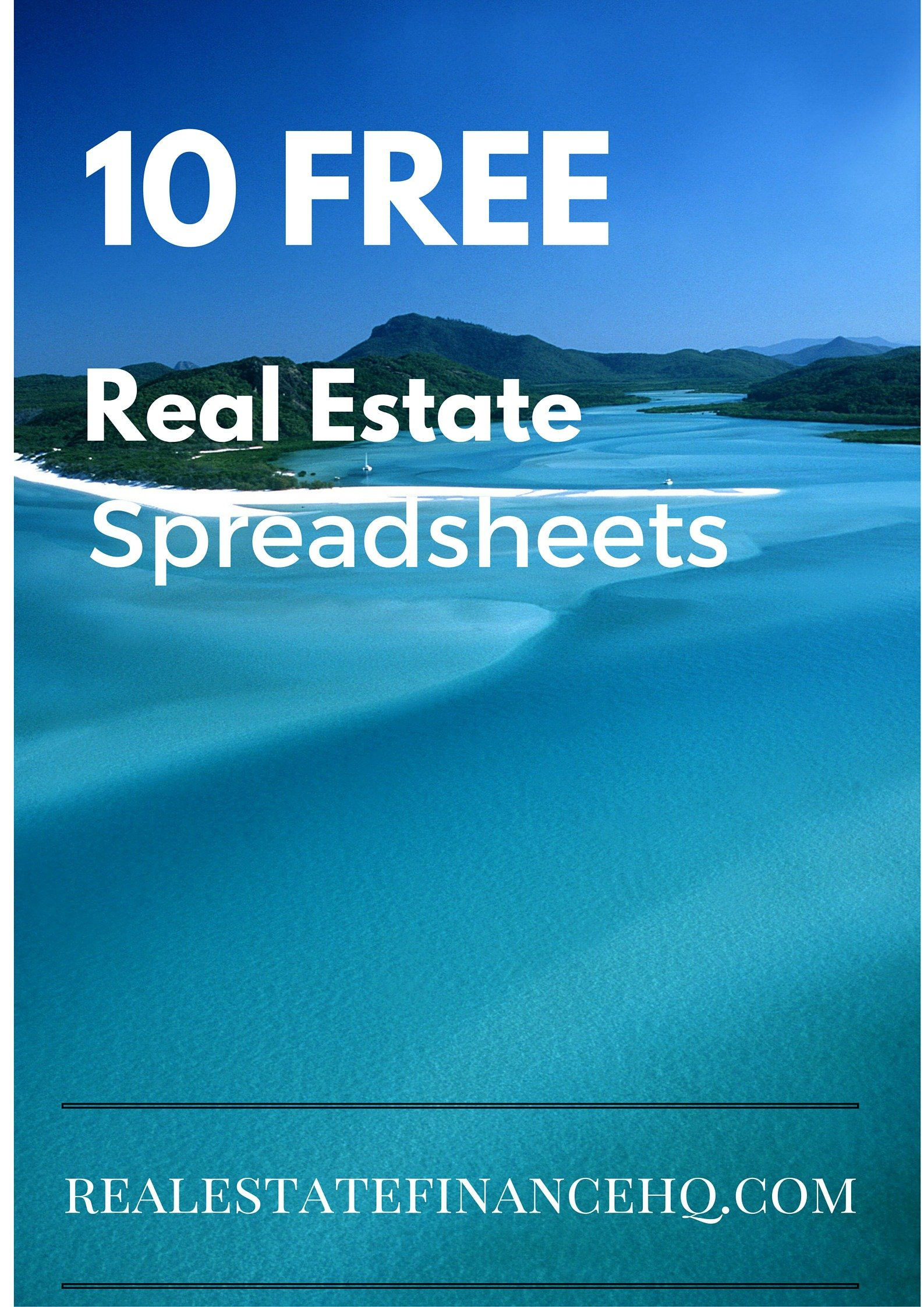 10 Free Real Estate Spreadsheets   Real Estate Finance And Commercial Real Estate Spreadsheet