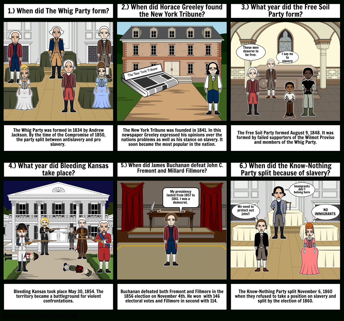 103 The Birth Of Republican Party Storyboardwendyromero Throughout The Birth Of The Republican Party Worksheet