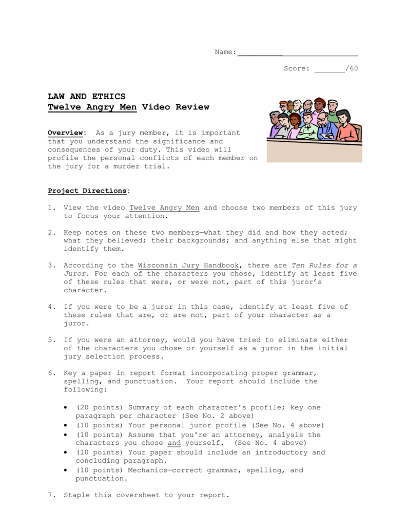 12 Angry Men 2Doc Together With 12 Angry Men Worksheet Answers