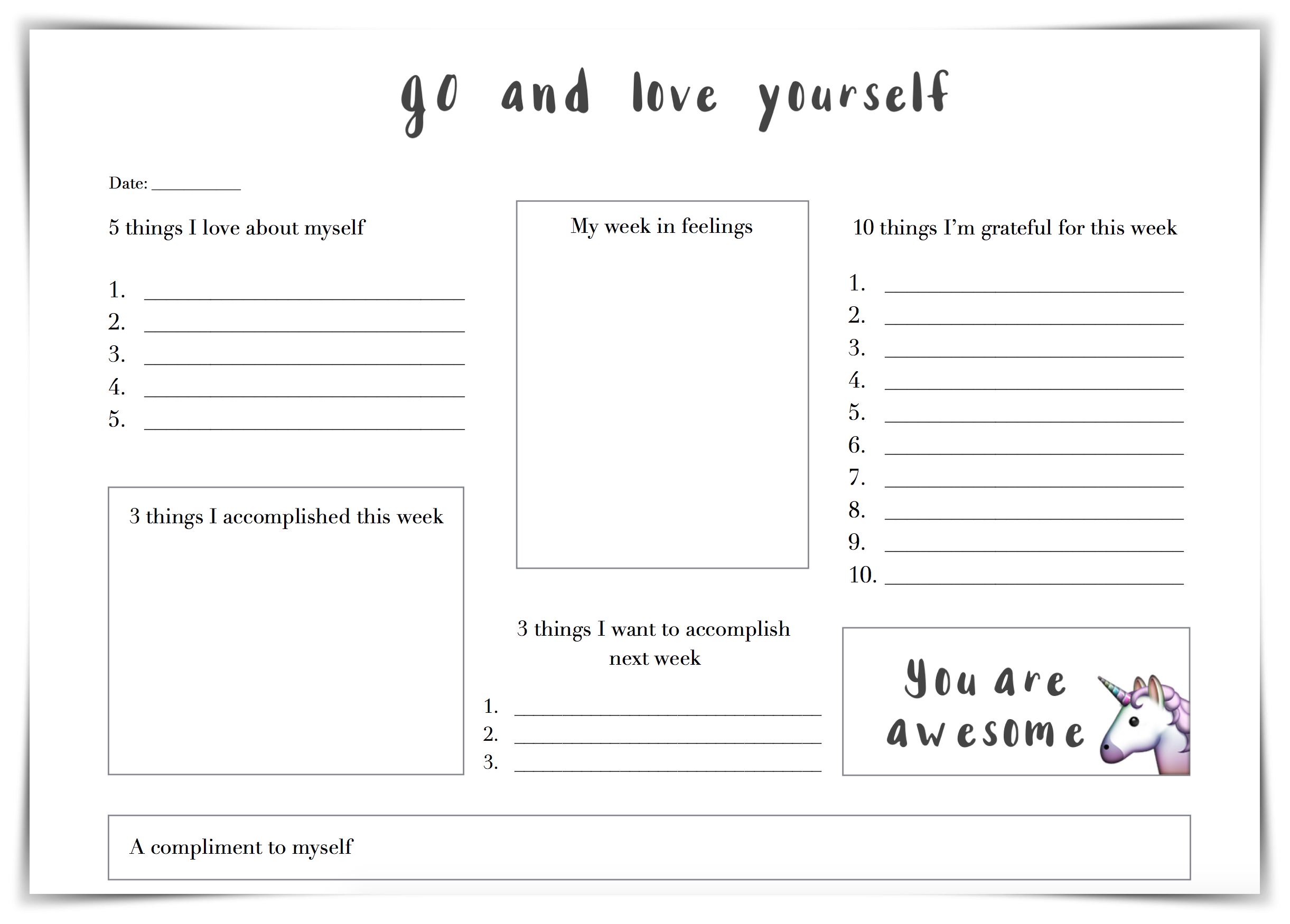 12 Tips How To Improve Self Love  Free Worksheet  Valeriehusemann With Regard To Building Self Esteem Worksheets