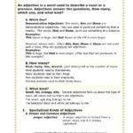 1314 Second Semester Grammar 1  Simplebooklet Along With Words Used As Nouns And Adjectives Worksheet