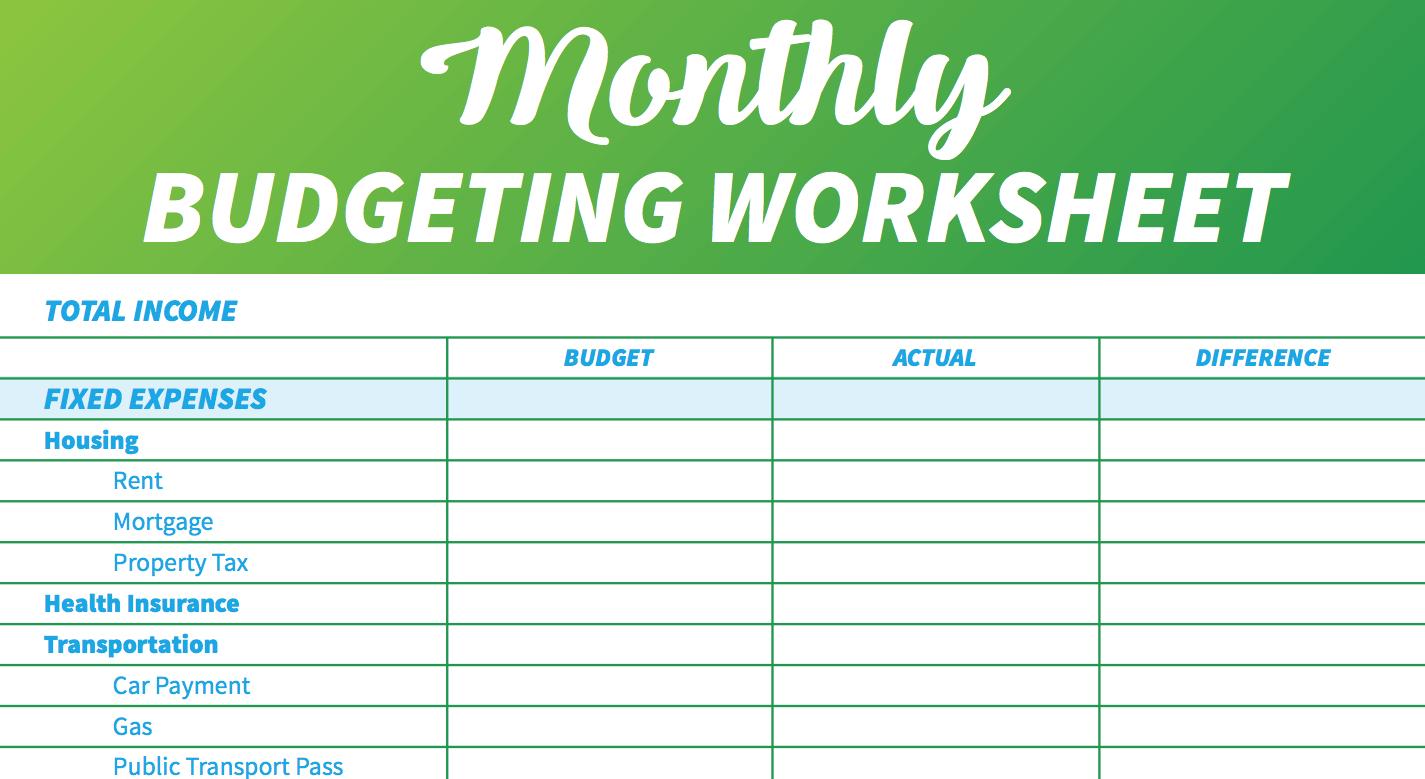 14 Easytouse Free Budget Templates  Gobankingrates For Budgeting For Dummies Worksheet