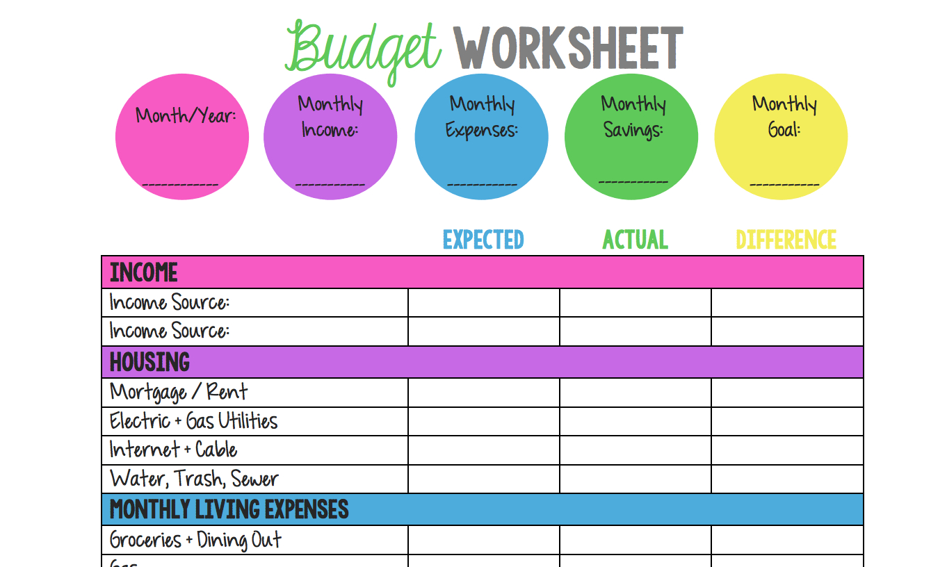 14 Easytouse Free Budget Templates  Gobankingrates Inside Simple Budget Worksheet