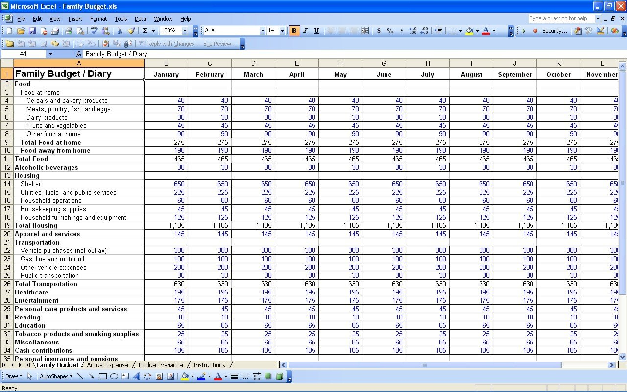 15 Free Personal Budget Spreadsheet - Excel Spreadsheet With Regard To Personal Budget Finance