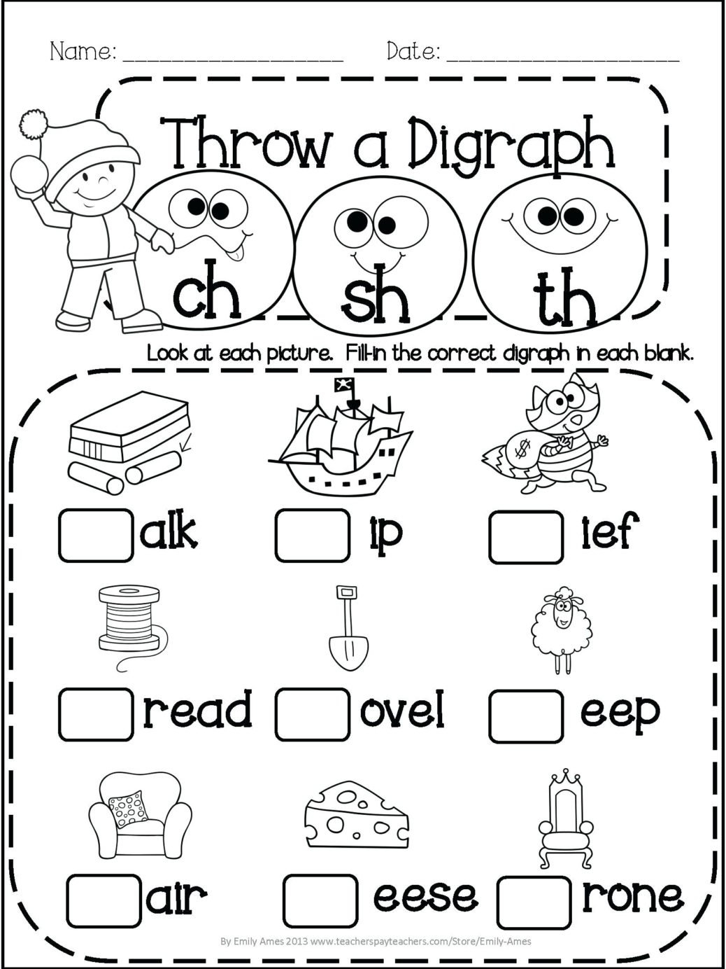 1St Grade Phonics Worksheets To Printable To  Math Worksheet For Kids Within 1St Grade Phonics Worksheets