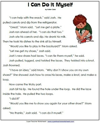 1St Grade Reading Comprehension Printables Also Free 1St Grade Comprehension Worksheets