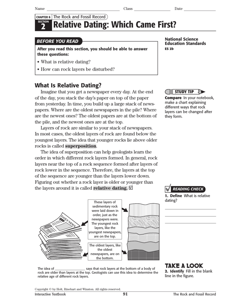 Fossils And Relative Dating Worksheet Answers ...