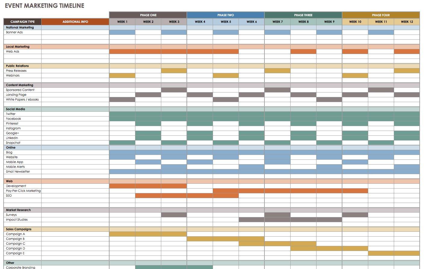 21 Free Event Planning Templates | Smartsheet Together With Event Planning Spreadsheet Template