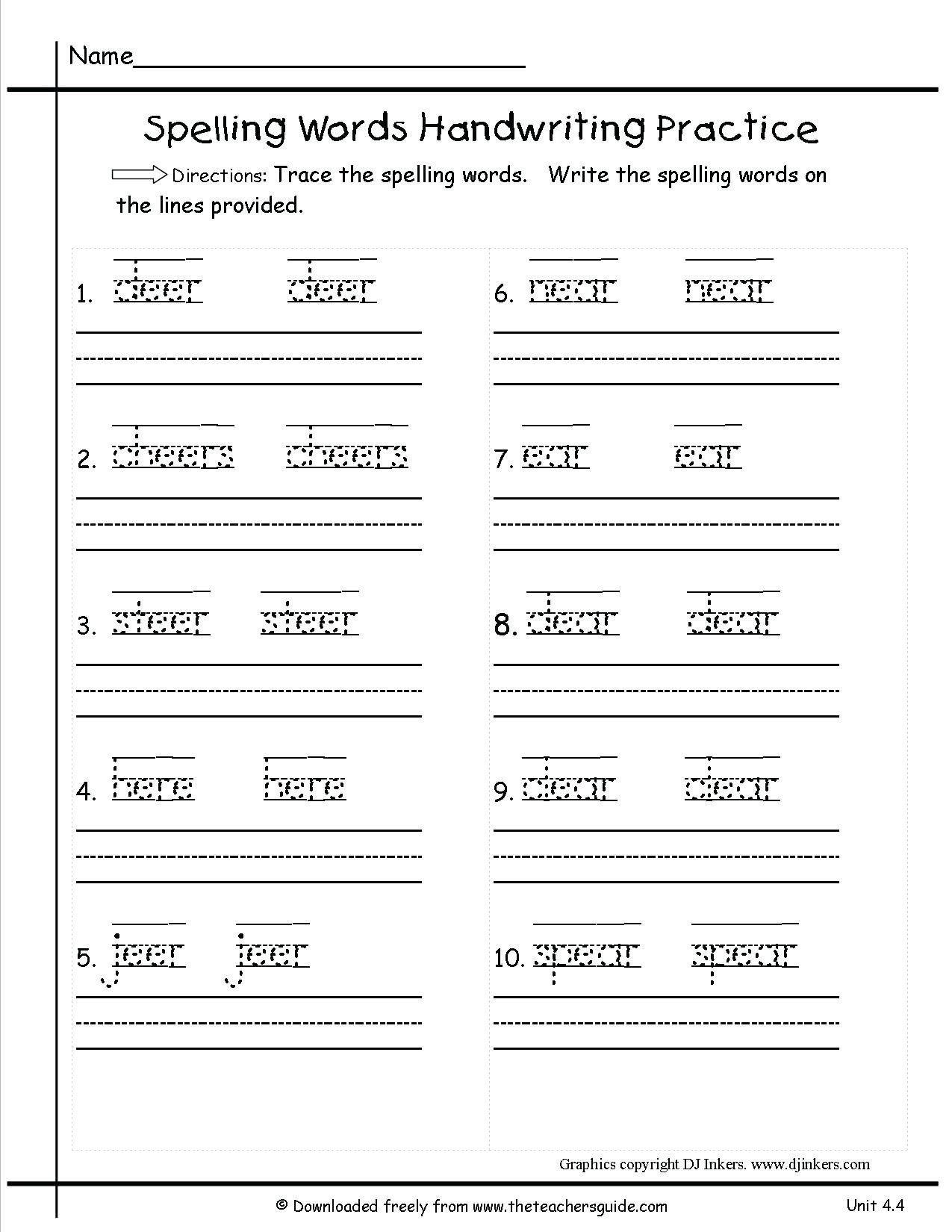 3Rd Grade Handwriting Worksheets Pdf  Briefencounters Within 3Rd Grade Handwriting Worksheets