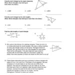 41 And 42 Practice B Also 4 2 Practice Angles Of Triangles Worksheet Answers