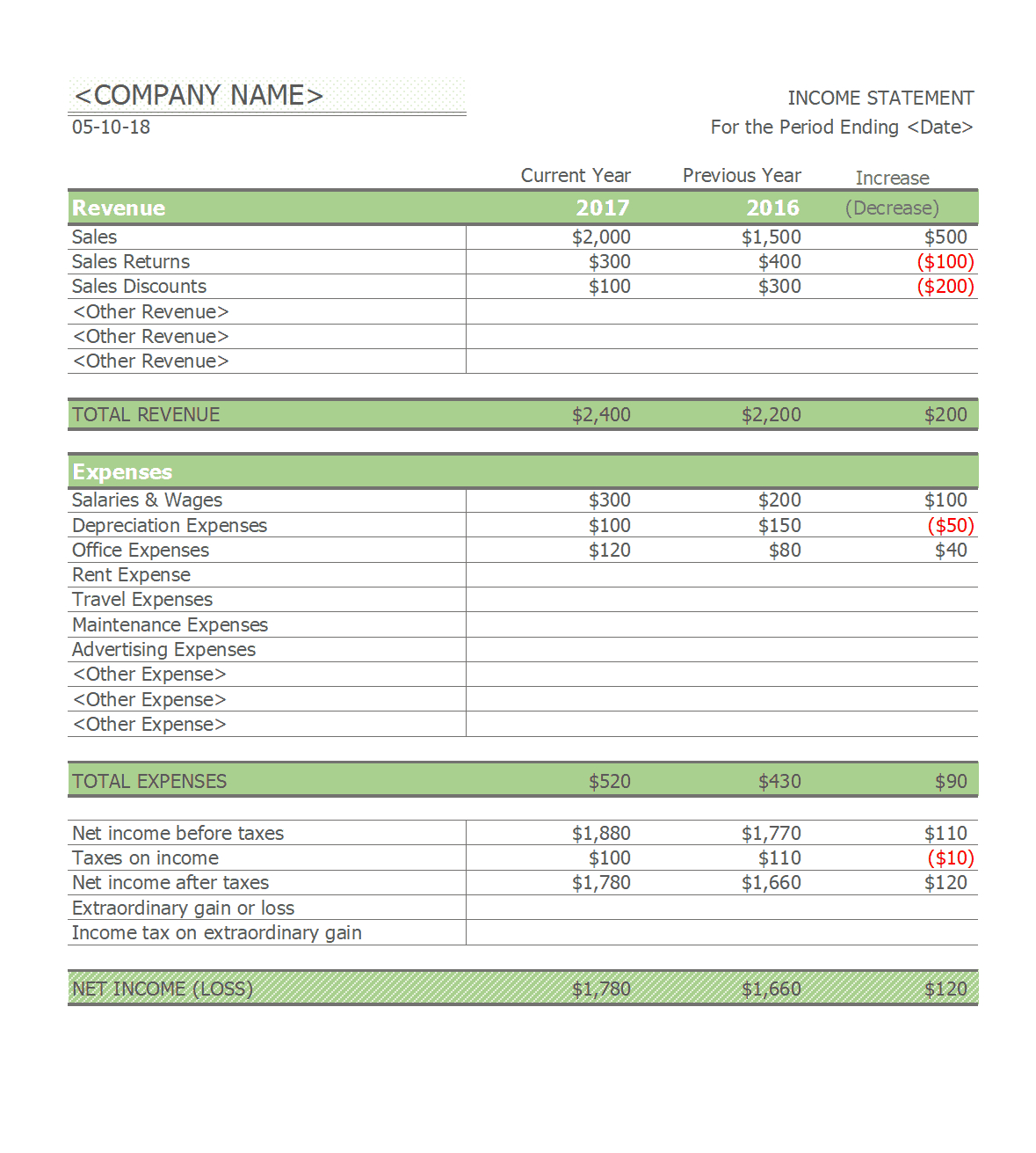 41 Free Income Statement Templates & Examples - Template Lab And Quarterly Income Statement Template