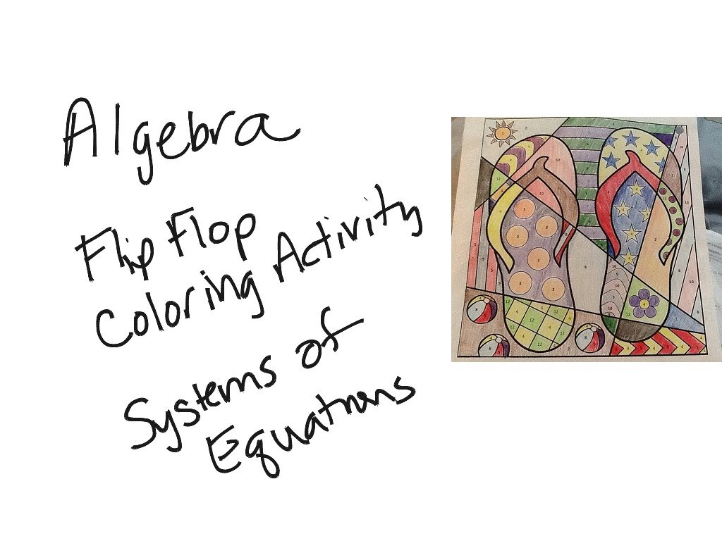 413 Algebra  Coloring Activity Systems Of Equations  Math Regarding Shamrockin Equations Worksheet Answers Key