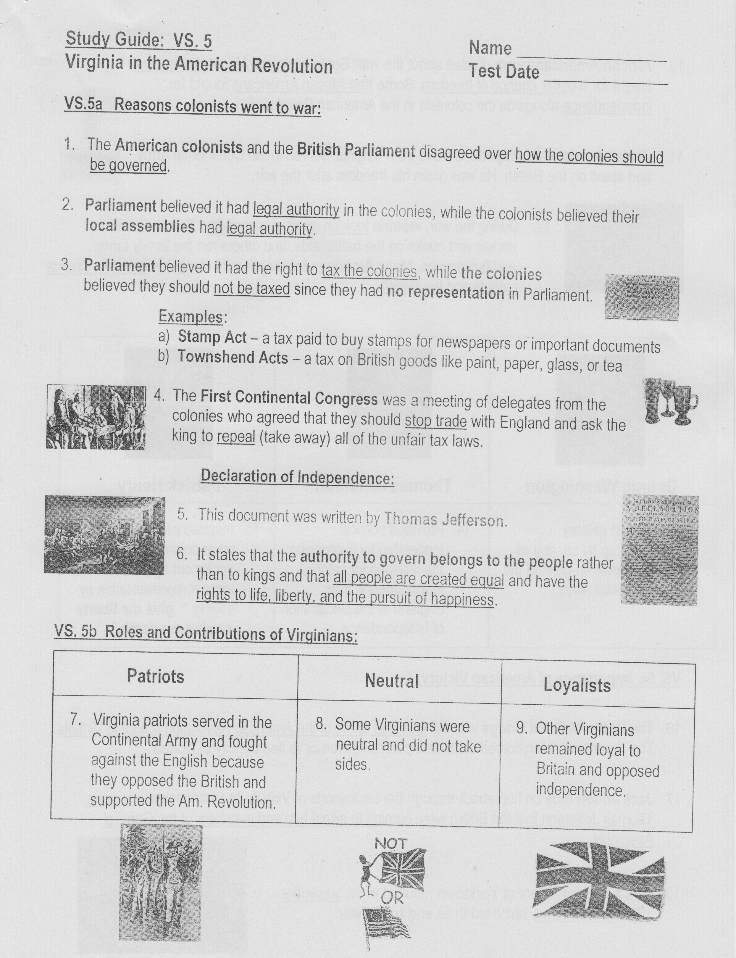 4Th Grade Homework  Va Studies Guides And Notes Or Life In The Colonies Worksheet Answers