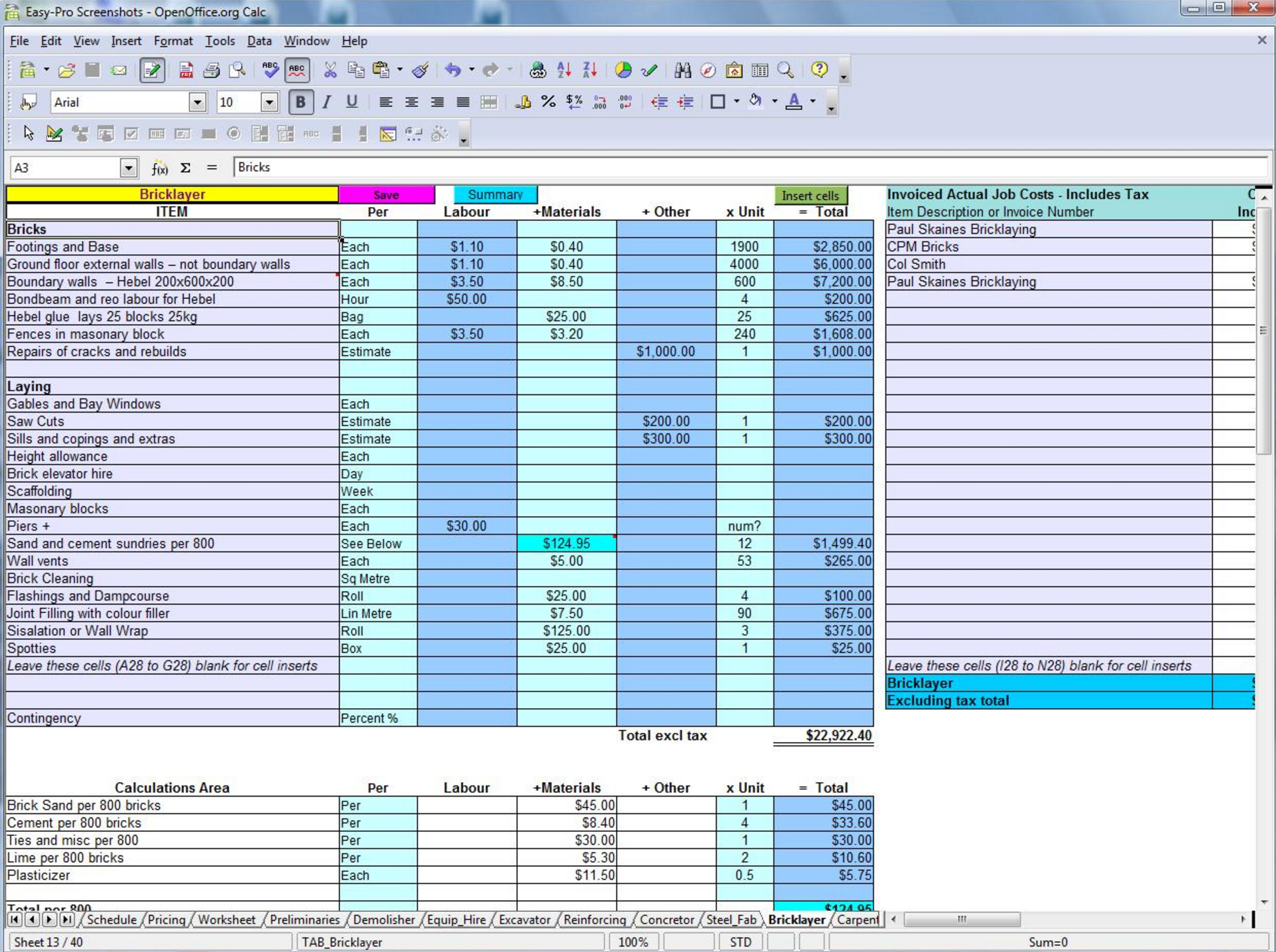 5 Free Construction Estimating  Takeoff Products Perfect For Smbs For Construction Estimate Worksheet