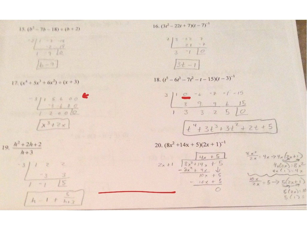 55 Long Division And Synthetic Division Worksheet  Math Algebra 2 With Regard To Synthetic Division Worksheet With Answers