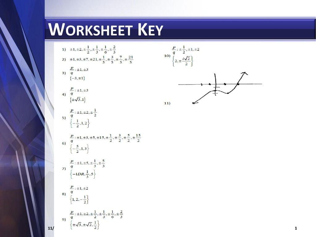 57 Fundamental Theorem Of Algebra  Ppt Download Or Fundamental Theorem Of Algebra Worksheet Answers