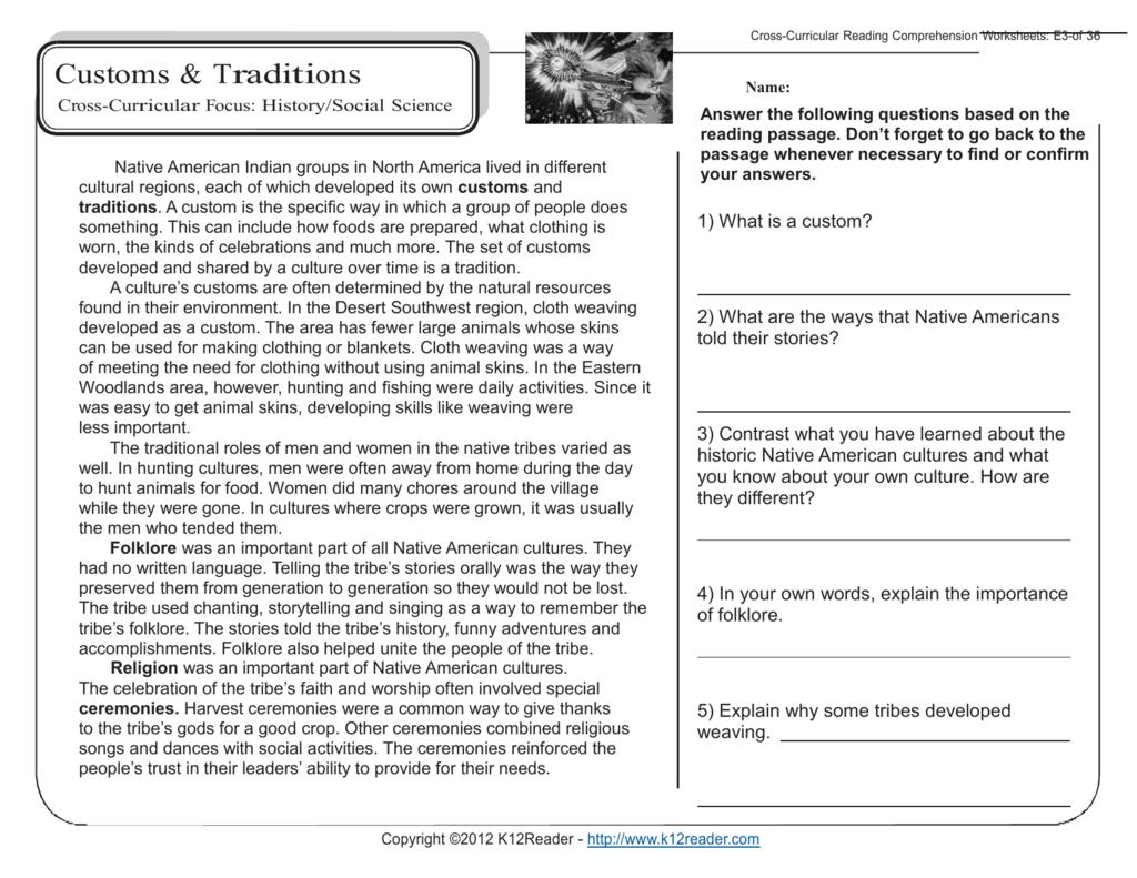 5Th Grade Reading Comprehension Worksheets Inside Science Reading Comprehension Worksheets