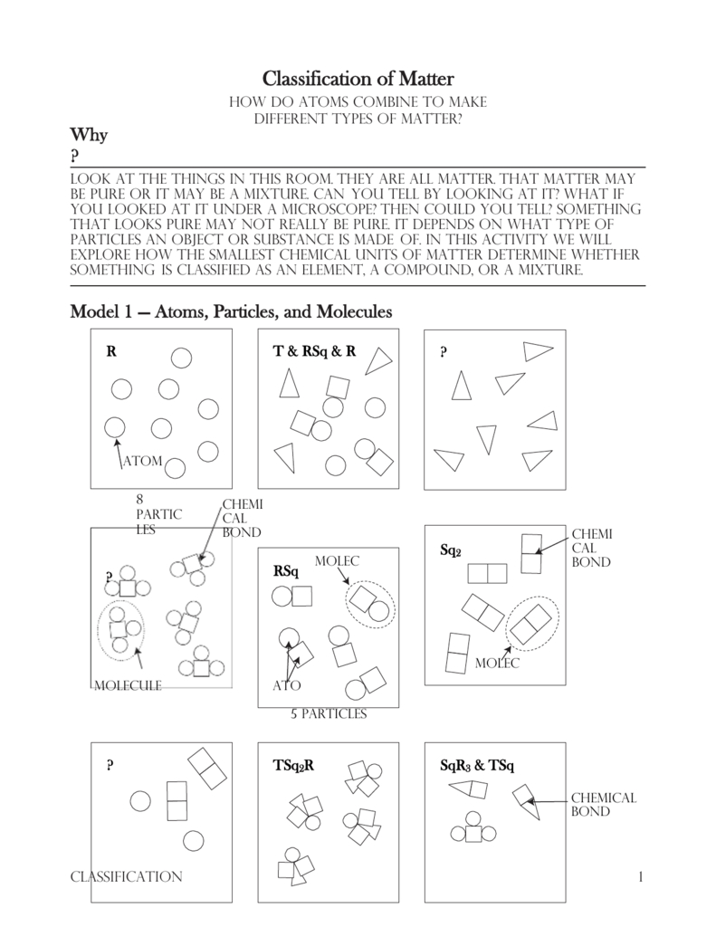 7 Classification Of Matters In Classification Of Matter Worksheet Chemistry Answers