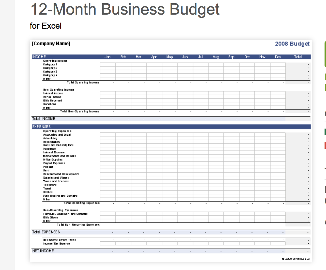 7 Free Small Business Budget Templates  Fundbox Blog In Business Budgeting Worksheets