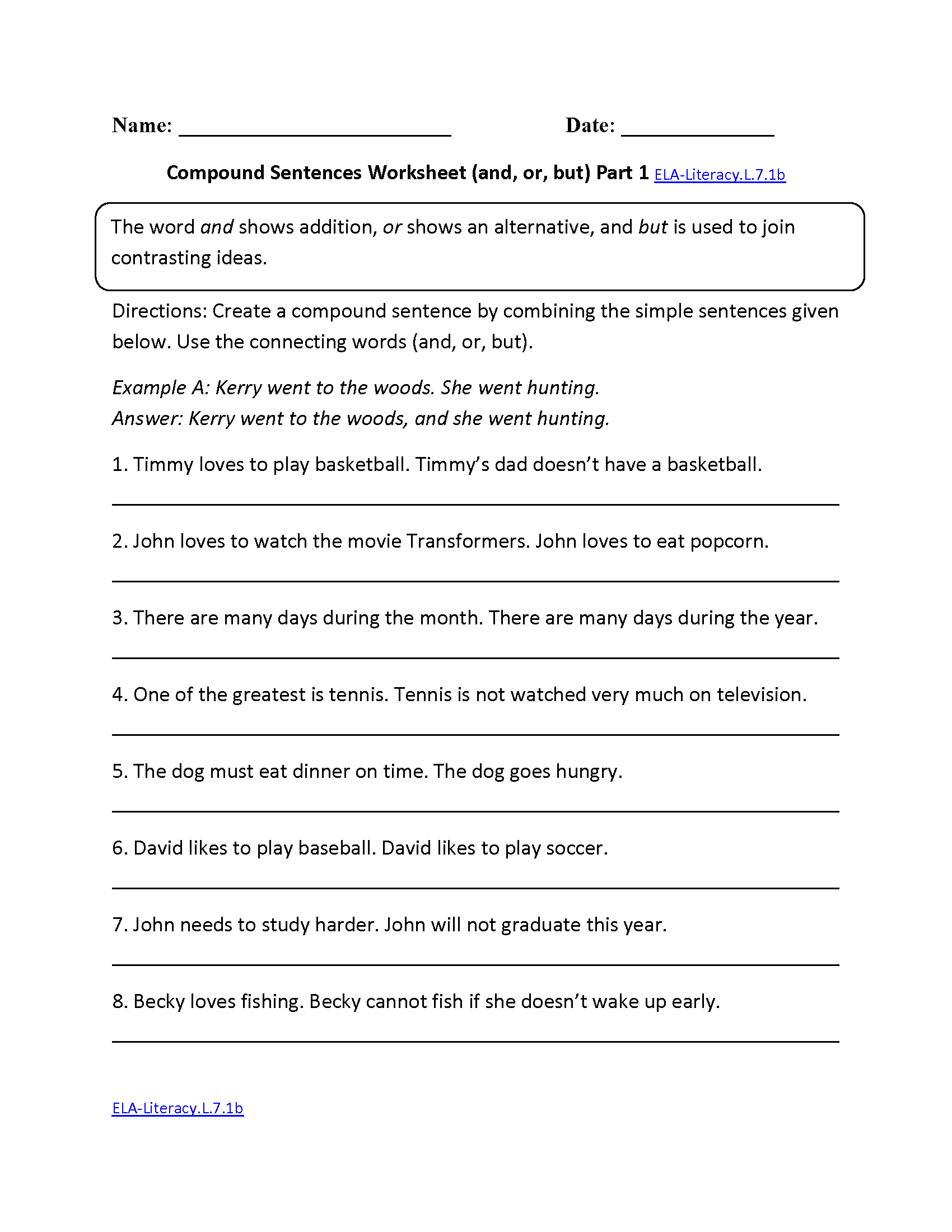 7Th Grade Common Core  Language Worksheets In Getting Ready For 7Th Grade Worksheets