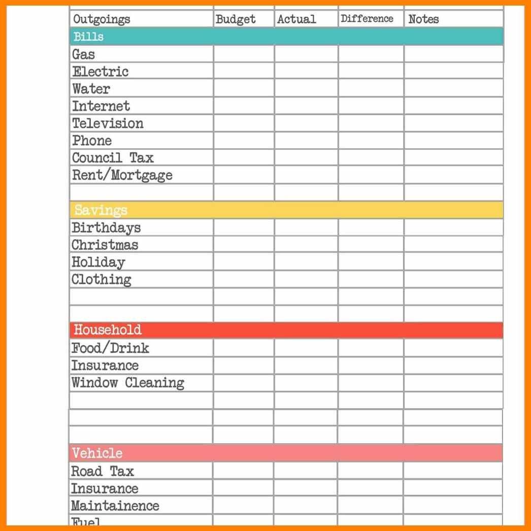 8  Budget Planner Spreadsheet Uk   Credit Spreadsheet Along With Budget Spreadsheet Uk