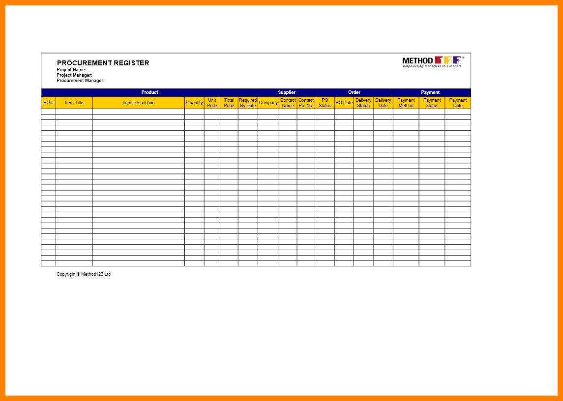 8+ Procurement Tracking Spreadsheet | Credit Spreadsheet And Procurement Savings Spreadsheet