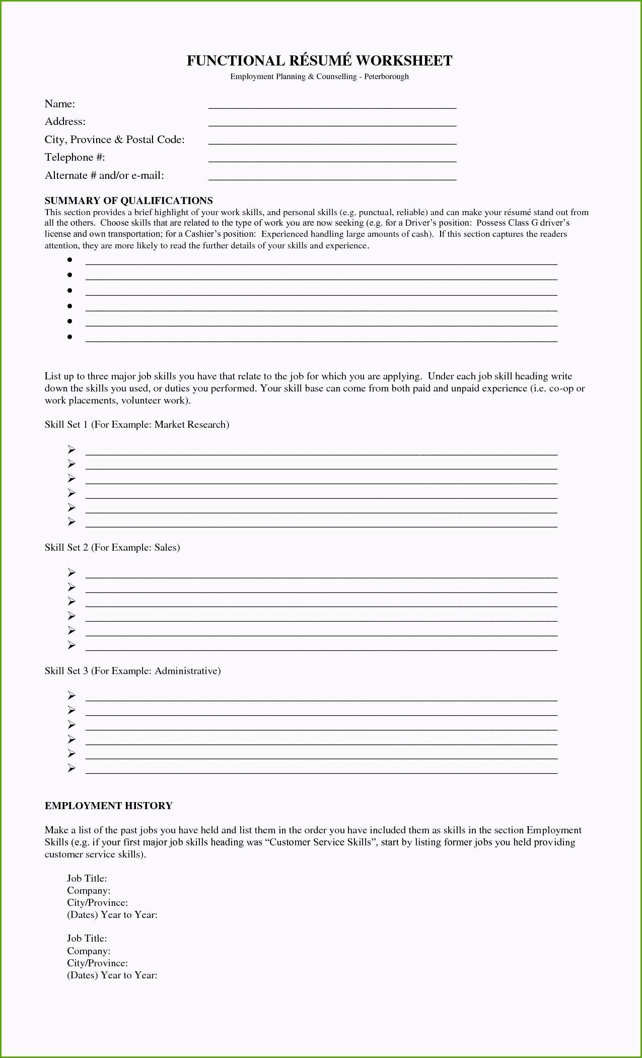 96 Lovely Fill In The Blank Resume Worksheet For Ideas Regarding Fill In The Blank Resume Worksheet