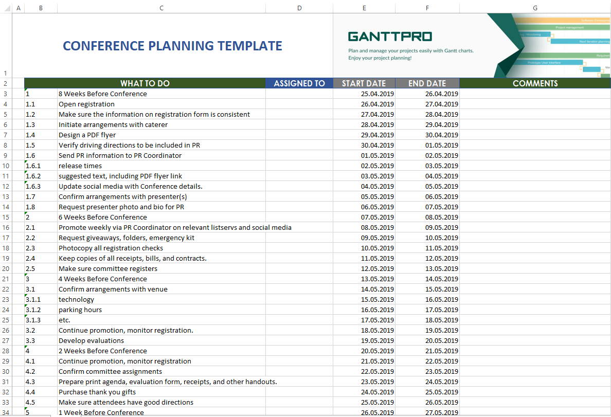 Blank Conference Planning Template Excel Throughout Conference Planning Template Excel Examples