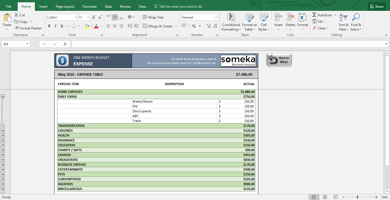 Blank Excel Monthly Budget Template In Excel Monthly Budget Template Form