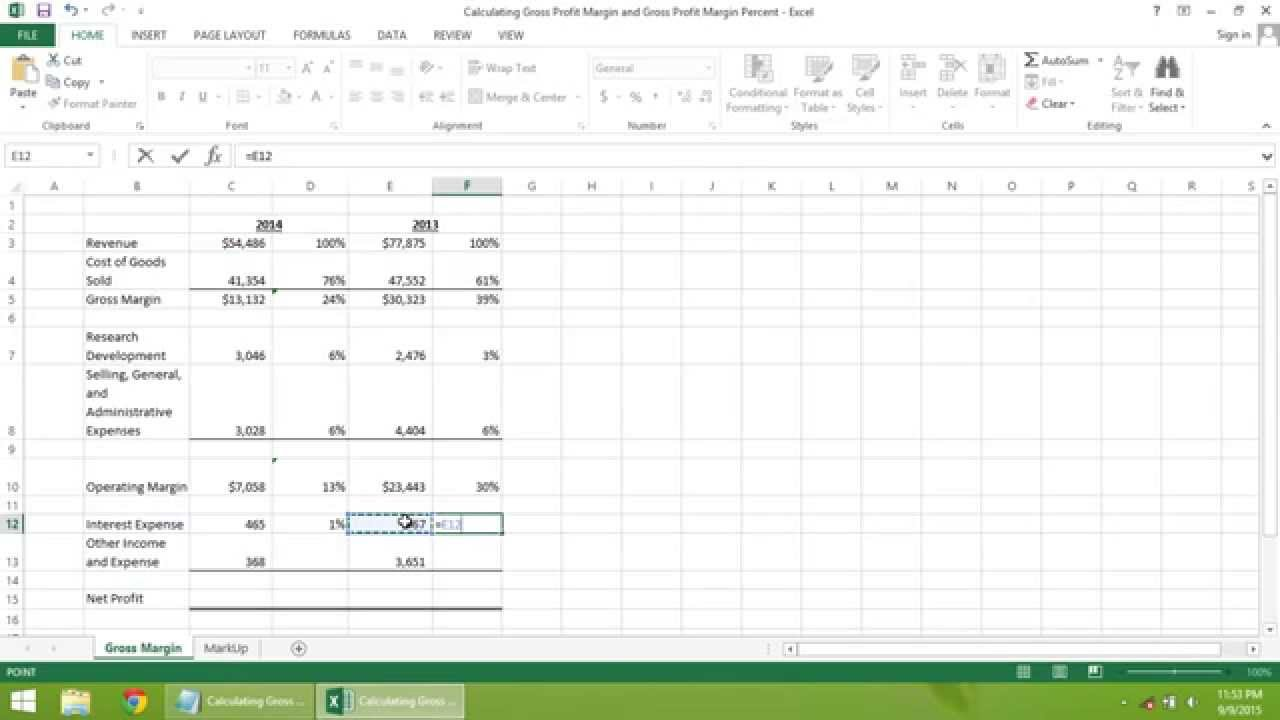 Blank Gross Margin Calculator Excel Template To Gross Margin Calculator Excel Template Document