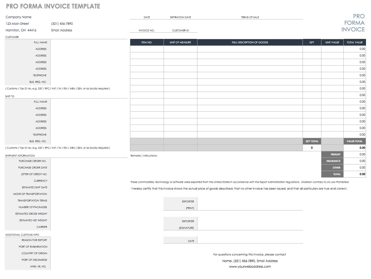 Blank Invoice Template In Excel Format With Invoice Template In Excel Format Sheet