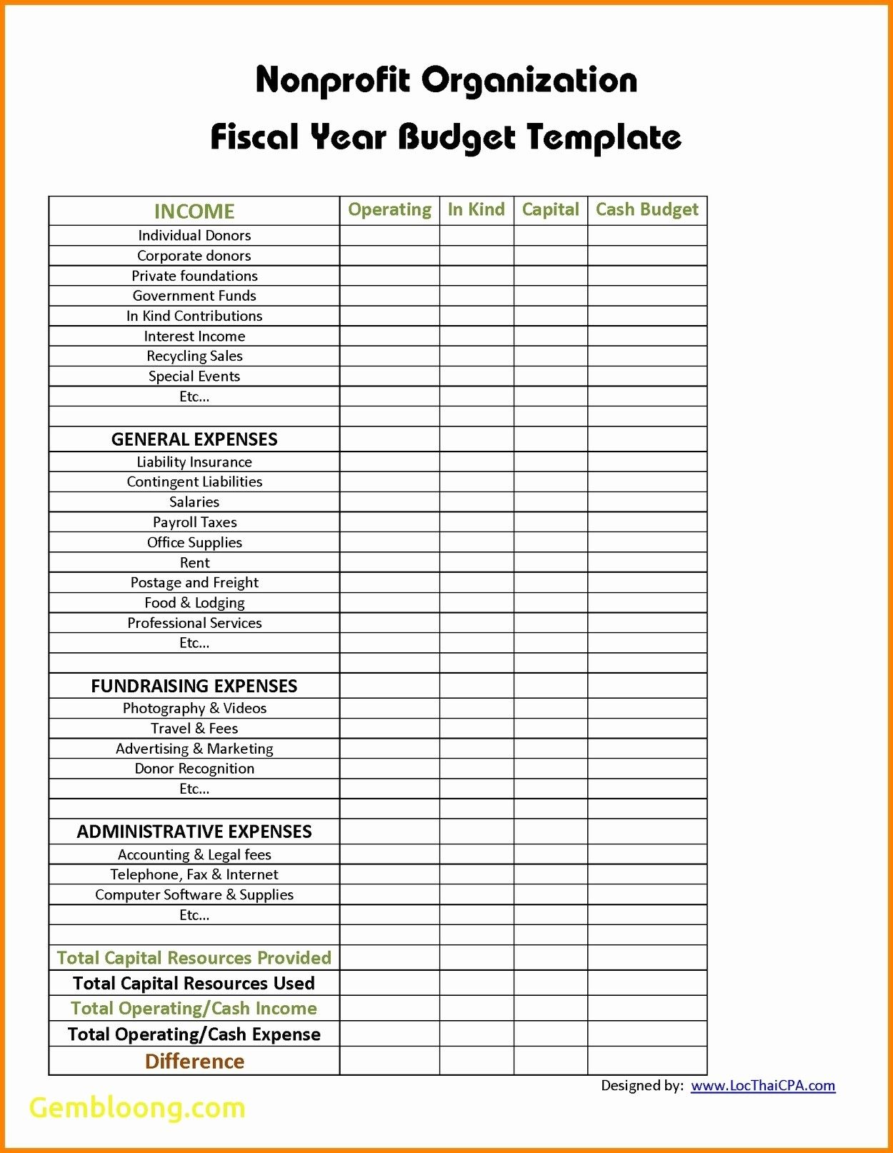 Blank Non Profit Budget Template Excel Throughout Non Profit Budget Template Excel For Google Spreadsheet