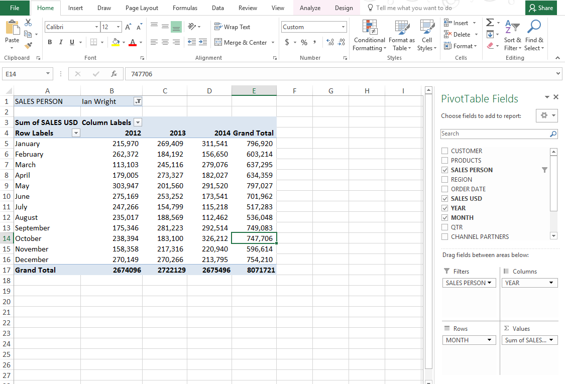 Blank Pivot Table Excel Sample Intended For Pivot Table Excel Sample For Personal Use