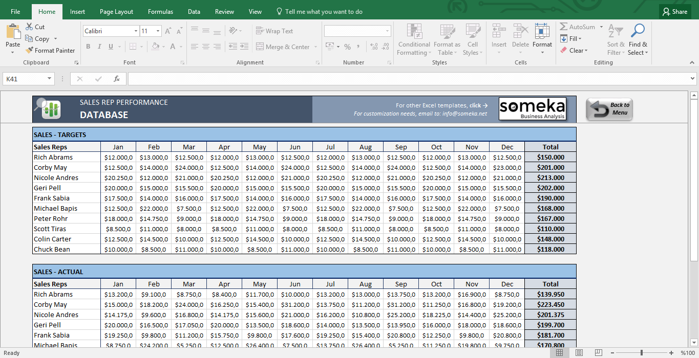 Blank Sales Target Template Excel Within Sales Target Template Excel Download For Free