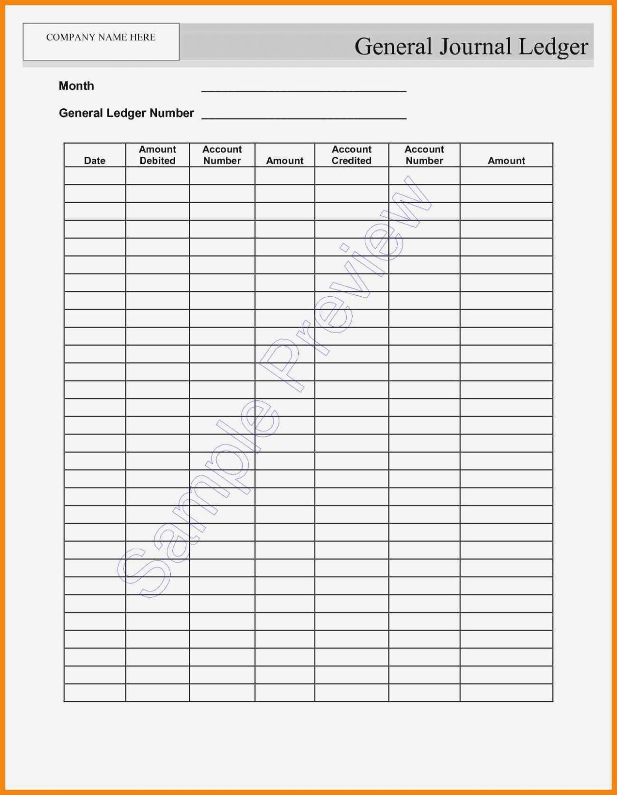 Blank Self Employment Ledger Template Excel For Self Employment Ledger Template Excel Document