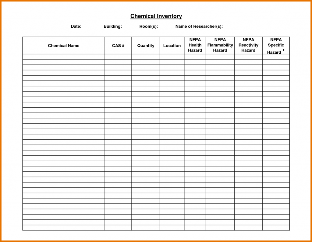 Blank Warehouse Inventory Spreadsheet With Warehouse Inventory Spreadsheet Printable