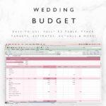 Blank Wedding Excel Spreadsheet with Wedding Excel Spreadsheet in Excel