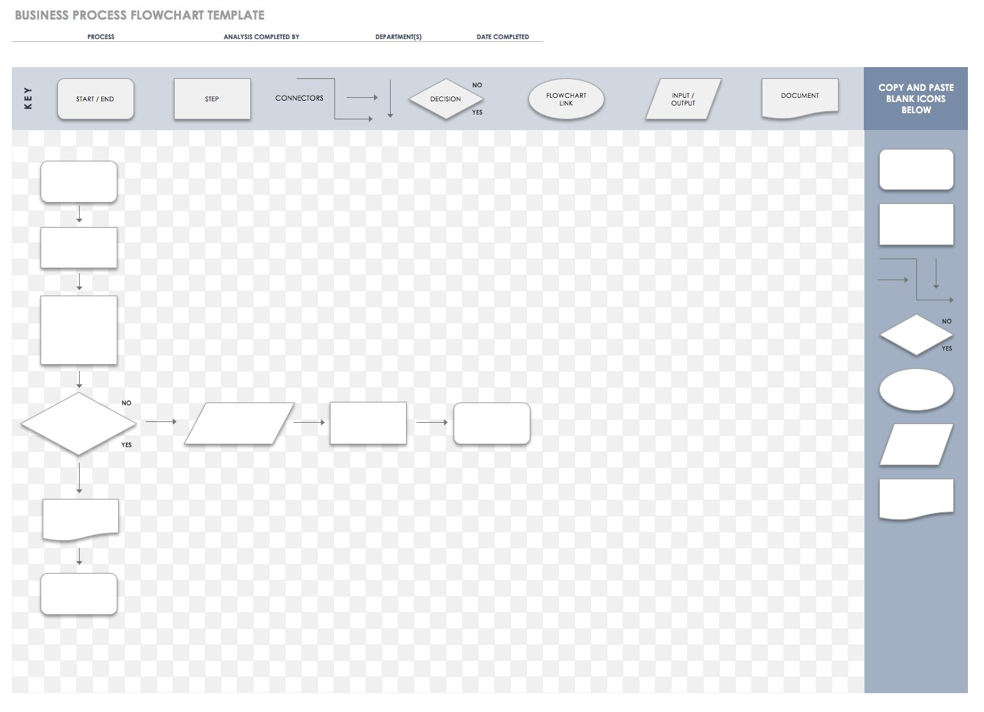 Blank Work Flow Chart Template Excel Within Work Flow Chart Template Excel Sheet