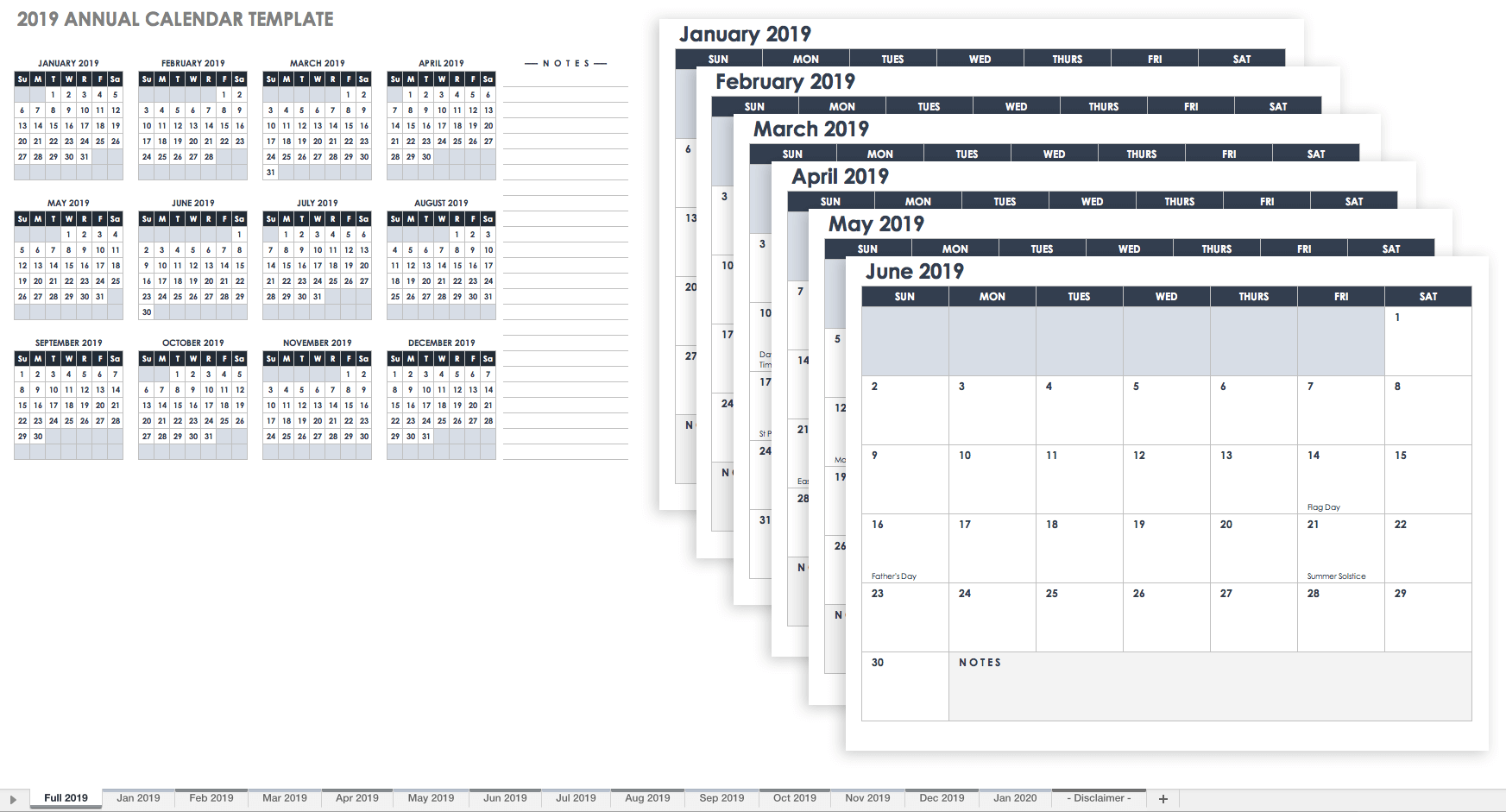 Document Of 2019 Monthly Calendar Template Excel For 2019 Monthly Calendar Template Excel Free Download