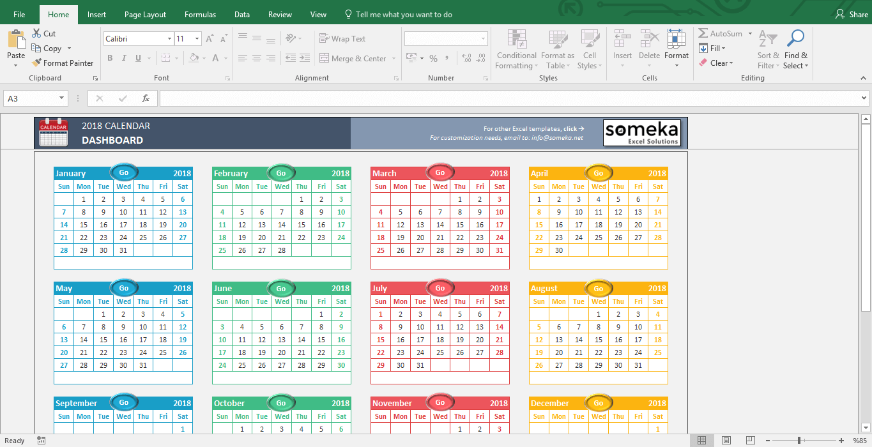 Document Of Excel Calendar 2018 Template Inside Excel Calendar 2018 Template In Workshhet