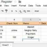 Document Of Excel Checkbook Register Budget Worksheet Inside Excel Checkbook Register Budget Worksheet Letters