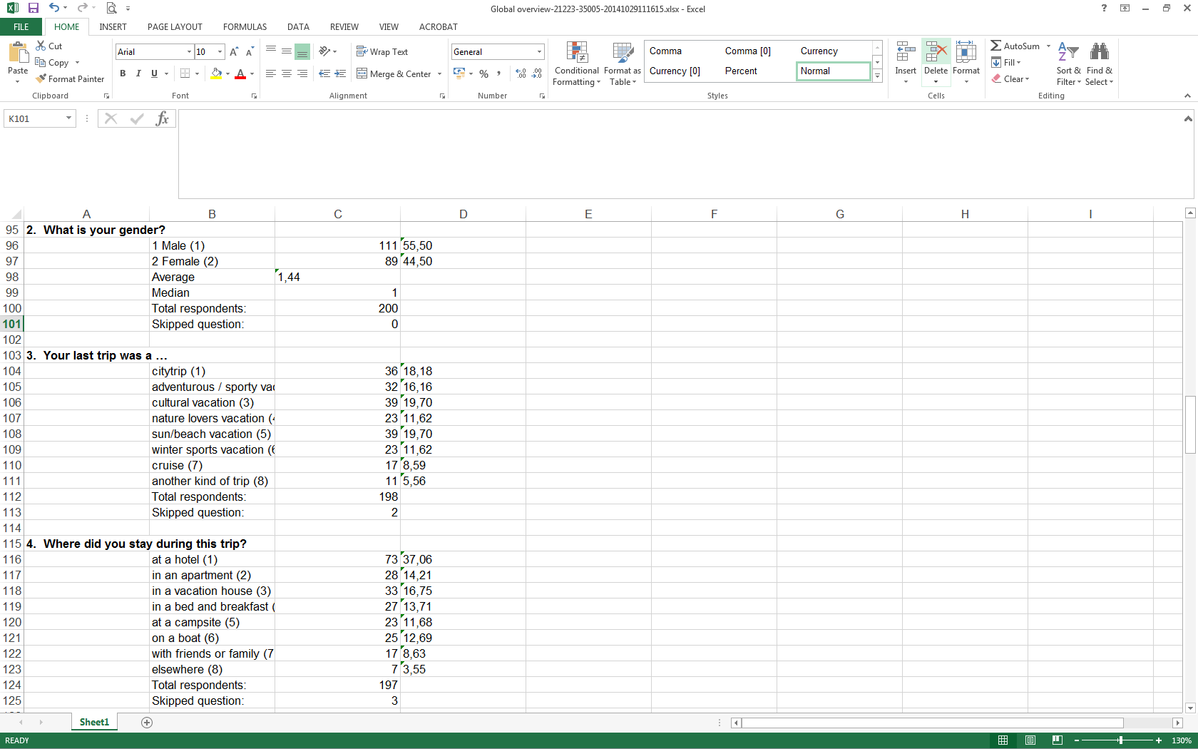Document Of Excel Survey Analysis Template And Excel Survey Analysis Template Download For Free
