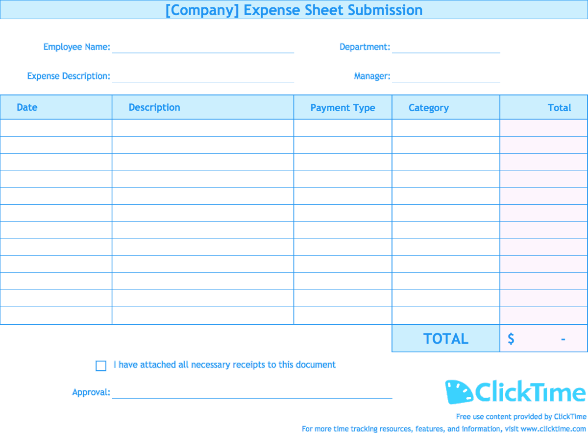 Document Of Expense Report Template Excel And Expense Report Template Excel For Google Sheet