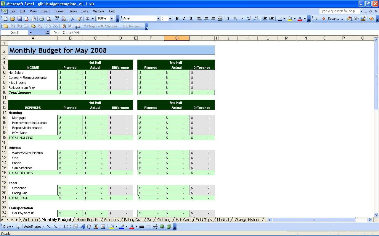 Document Of Financial Spreadsheet Excel For Financial Spreadsheet Excel For Personal Use