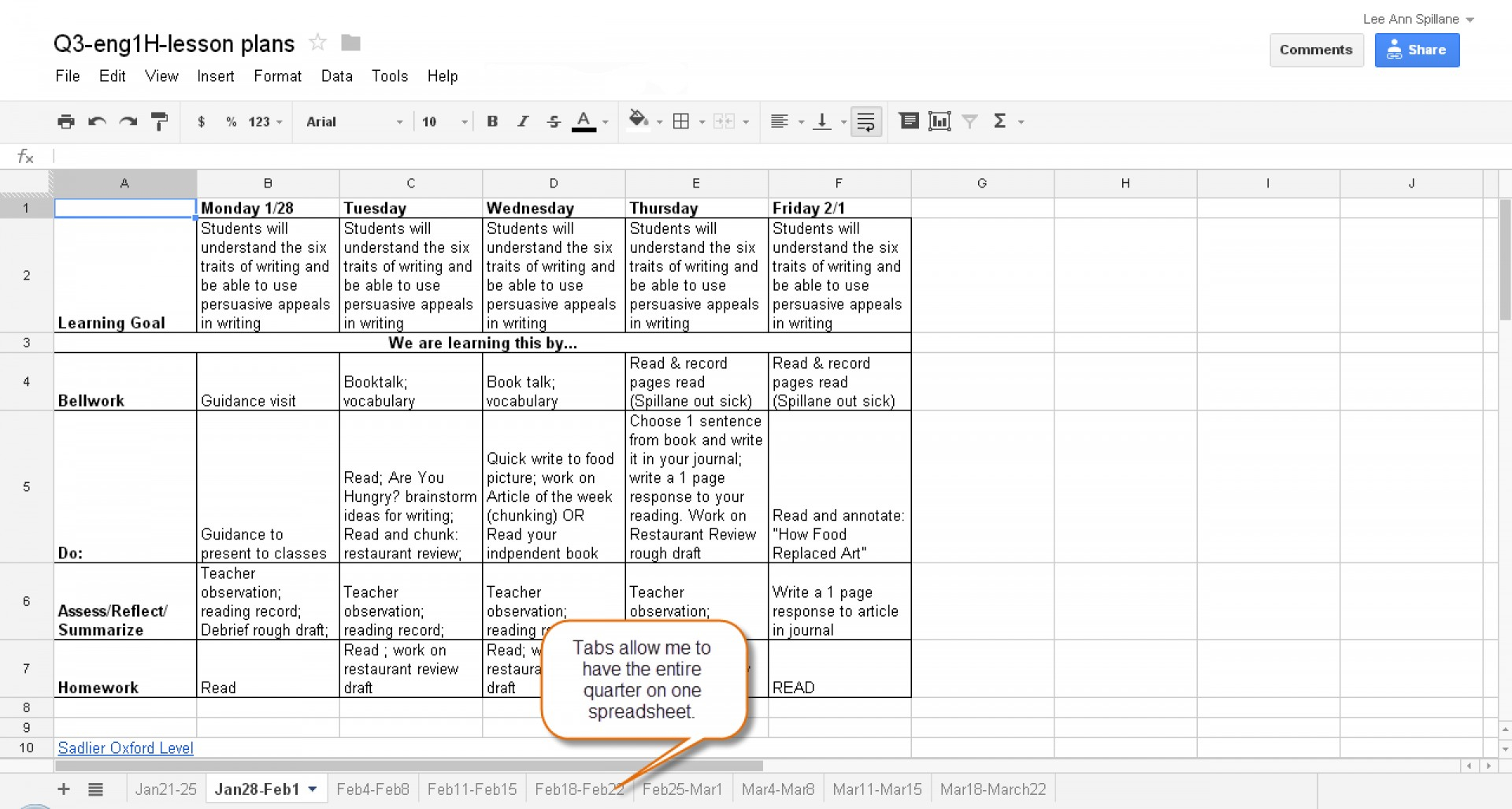 Document Of Lesson Plan For Excel Spreadsheet With Lesson Plan For Excel Spreadsheet Format