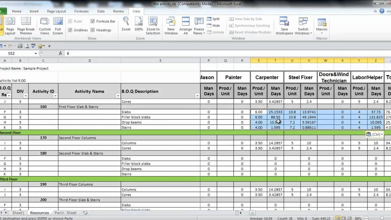 Document Of Manpower Capacity Planning Excel Template For Manpower Capacity Planning Excel Template Sheet